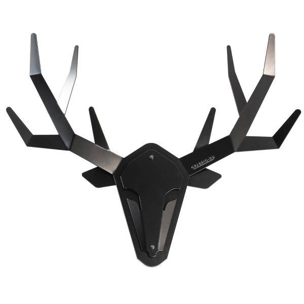 Hertengewei hertenkop wand decoratie zwart staal - OH DEER - FABRIQ-S - Productfoto 1 volledig