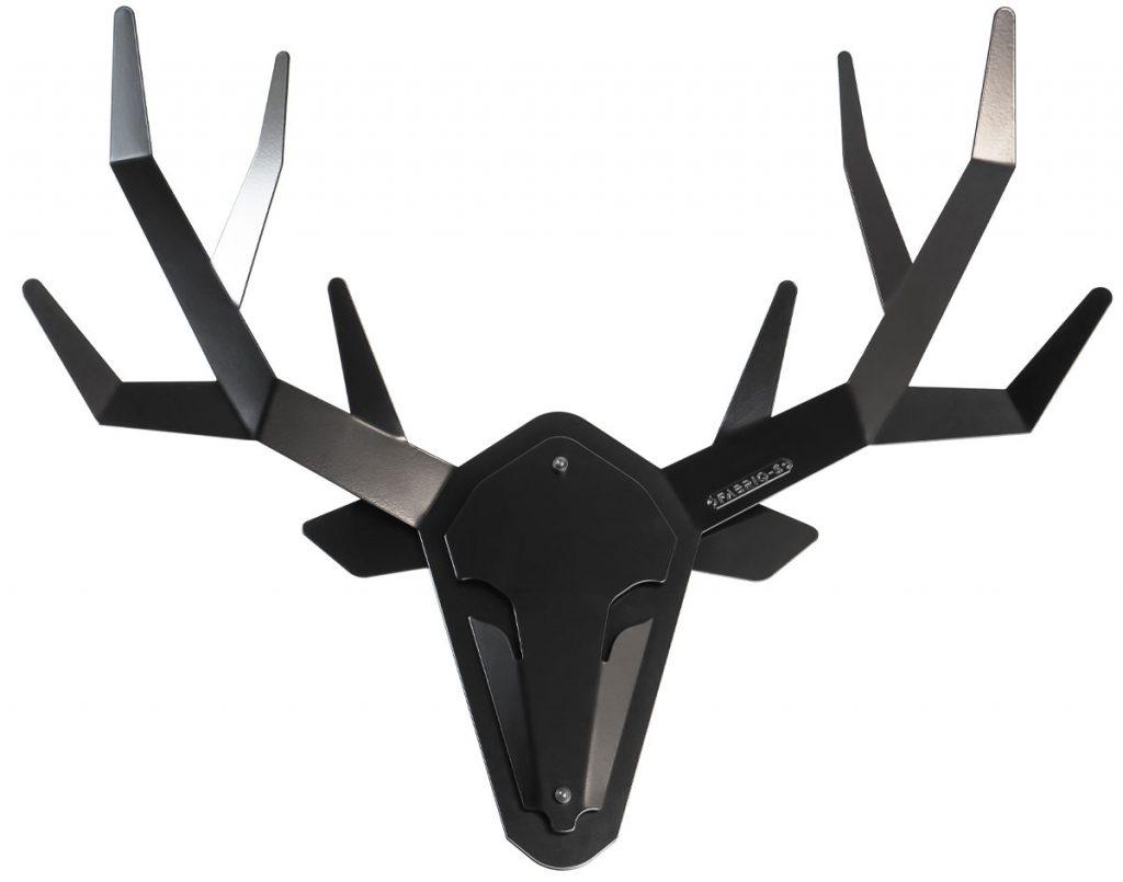 Hertengewei hertenkop wand decoratie zwart staal - OH DEER - FABRIQ-S - Productfoto 2