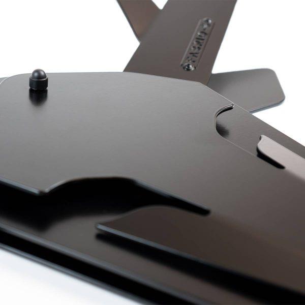 Hertengewei hertenkop wand decoratie zwart staal - OH DEER - FABRIQ-S - Productfoto 4 detailfoto