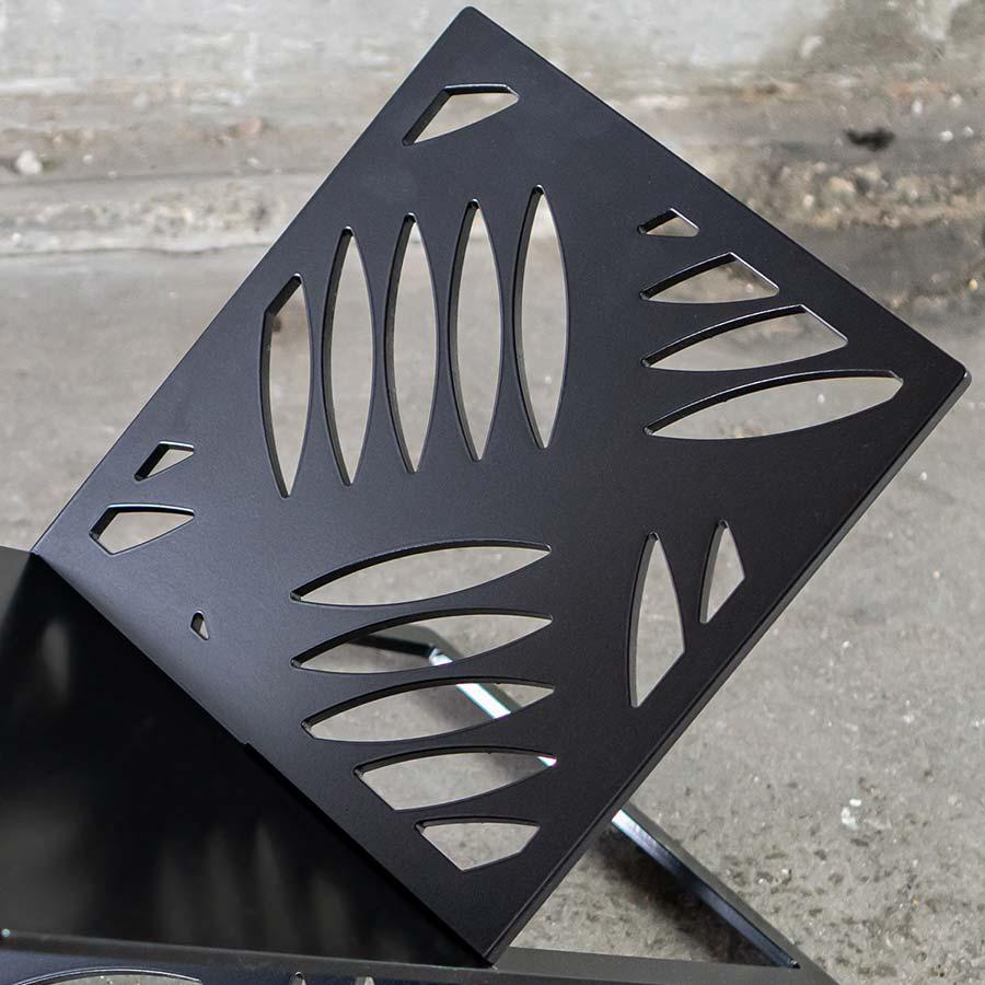 Krantenrek LP REK zwart - YOUR X - FABRIQ-S - detailfoto - MOBILE