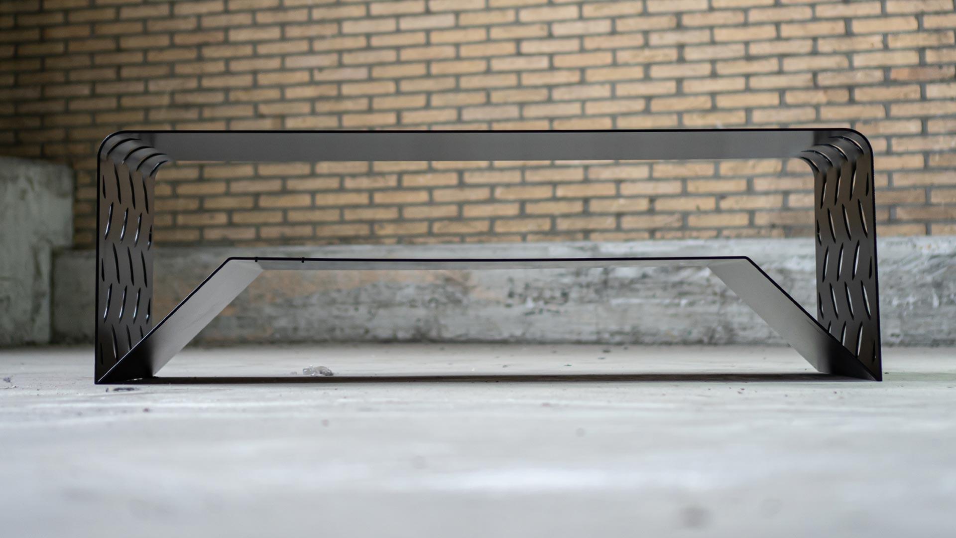 Salontafel zwart staal - BIG S - FABRIQ-S - Productfoto frontview