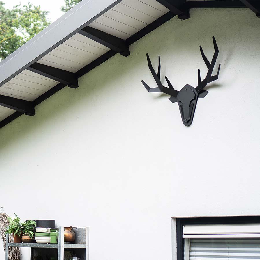 Stalen hertenkop gewei - Oh deer - klantenfoto 1 m